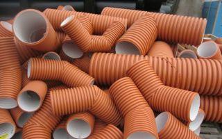 Пластиковая труба гофрированная для канализации и прочих нужд