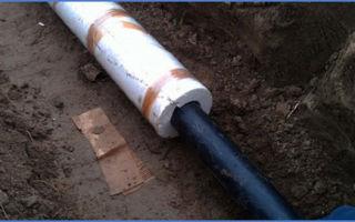 Как надёжно утеплить на улице водопроводную трубу