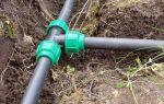 Трубы пнд для системы водопровода на даче: монтаж своими руками