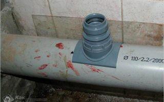Врезка в чугунную или пластиковую канализационную трубу: как это сделать правильно