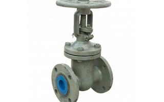 Задвижка клиновая для трубопровода: стальная, латунная, с выдвижным шпинделем