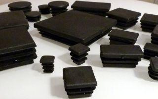 Заглушки из пластика и металла для профильной трубы