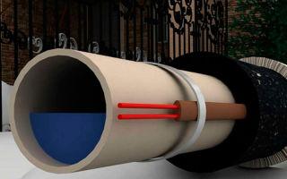Греющий кабель для нуждающихся в обогреве канализационных труб