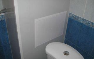Как закрыть трубы в туалете или ванной пластиковыми влагостойкими панелями