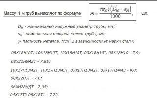 Вес стальной трубы: формулы и способы расчета