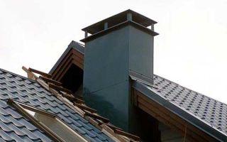 Кожух на трубу дымохода: утепление и декорирование дымоотвода на крыше