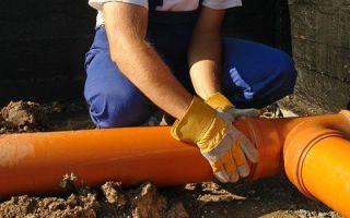 Прокладка пластиковых канализационных труб в земле: актуальные рекомендации и технология