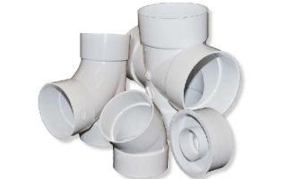Отвод, муфта, тройник, компенсационный патрубок и прочие пвх-фитинги для систем водоотведения