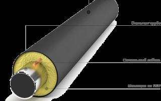 Труба стальная в пенополиуретановой (ппу) изоляции с защитной оболочкой