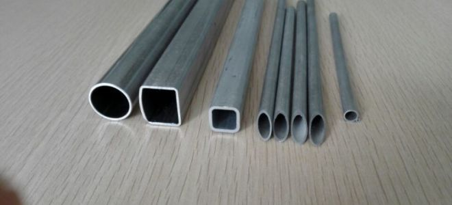 Алюминиевая труба. овальная и круглая формы сечения