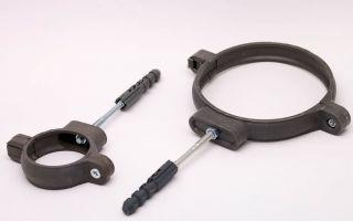 Крепёж для труб: варианты фиксирующих элементов и их установка
