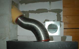Гибкие гофрированные дымоходы: применение, установка