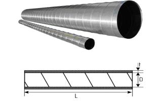 Спирально-навивной металлический воздуховод: в чем его преимущества перед прочими вентканалами