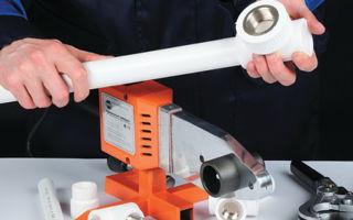 Ручная и механическая сварка водопроводных полипропиленовых труб