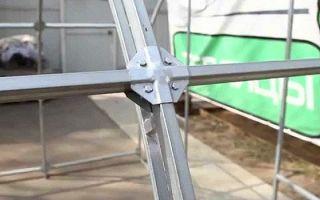 Соединительная краб система для надежной фиксации профильных труб