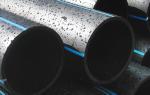 Трубы напорные для внутренних и наружных коммуникаций из полиэтилена