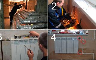 Как производится замена батареи-радиатора отопления