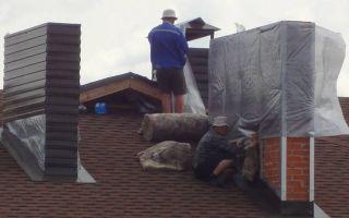 Отделка трубы дымохода на крыше и внутри дома: чем и как это сделать